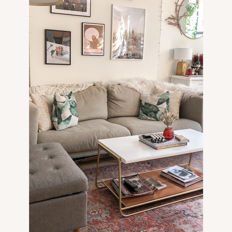 IKEA Nockeby 3 Seat Sofa + BEMZ Velvet Cover - image-2