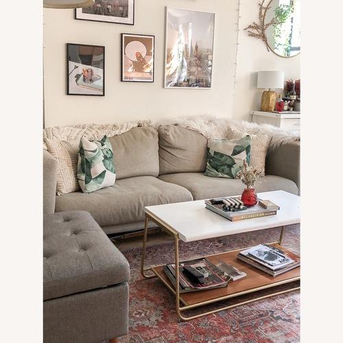 Used IKEA Nockeby 3 Seat Sofa + BEMZ Velvet Cover for sale on AptDeco