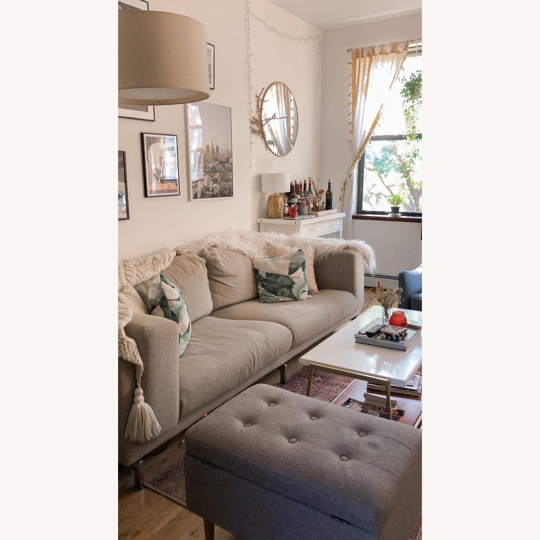IKEA Nockeby 3 Seat Sofa + BEMZ Velvet Cover - image-5