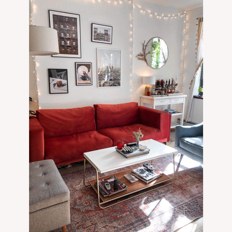 IKEA Nockeby 3 Seat Sofa + BEMZ Velvet Cover - image-3