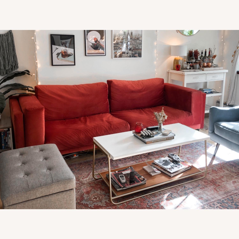 IKEA Nockeby 3 Seat Sofa + BEMZ Velvet Cover - image-1
