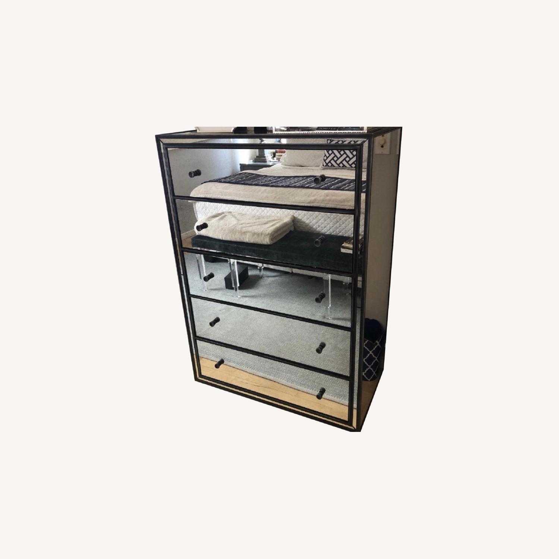 Restoration hardware Mirrored 5 Drawer Dresser - image-0