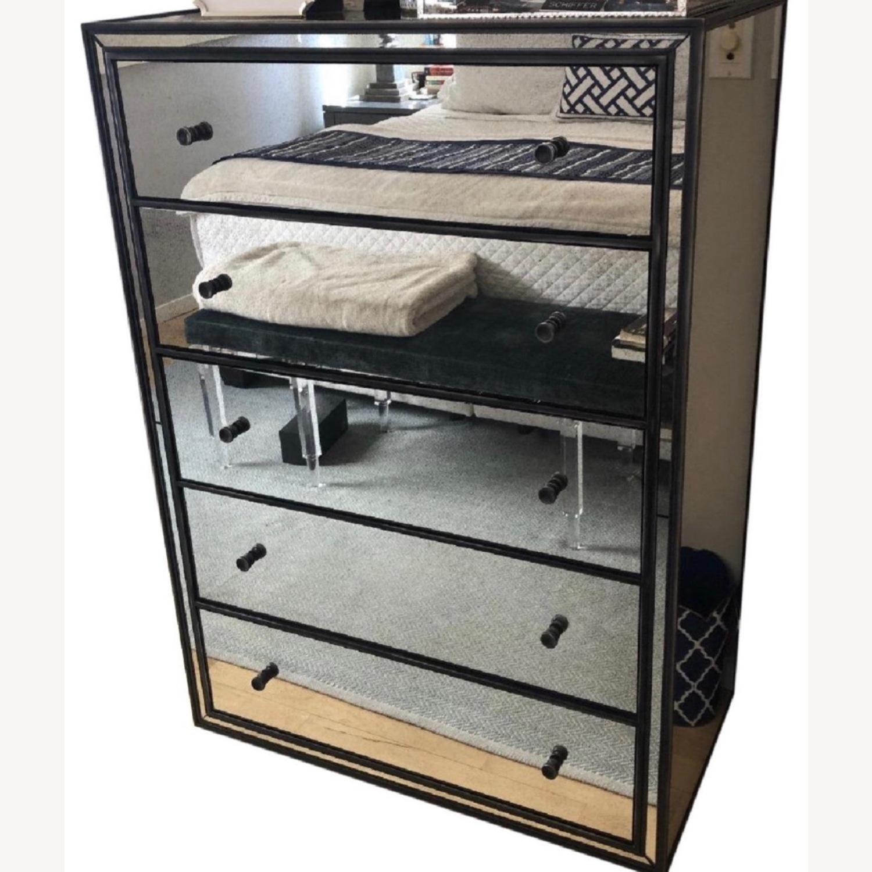 Restoration hardware Mirrored 5 Drawer Dresser - image-2