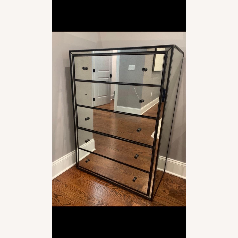 Restoration hardware Mirrored 5 Drawer Dresser - image-1