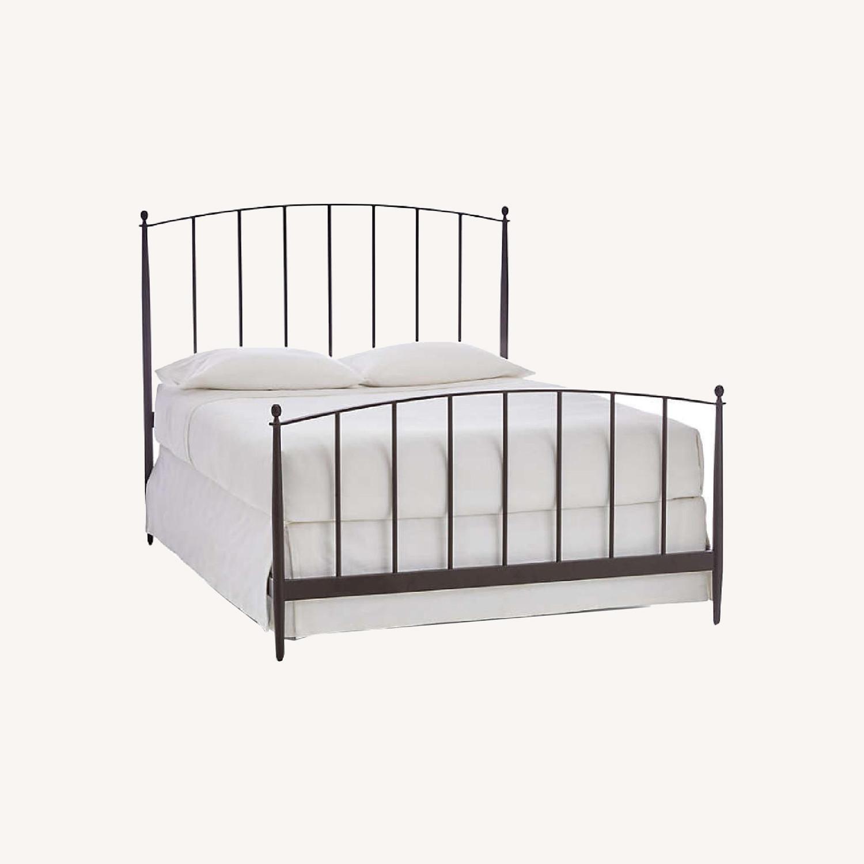 Crate & Barrel Mason Iron Bed - image-0