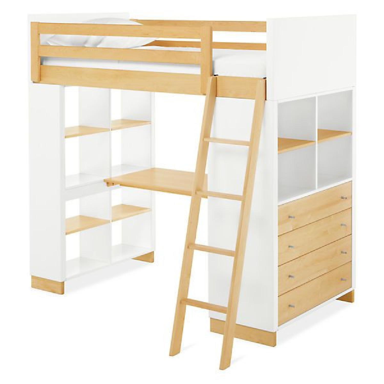 Room & Board Moda Loft Bed with Desk - image-8