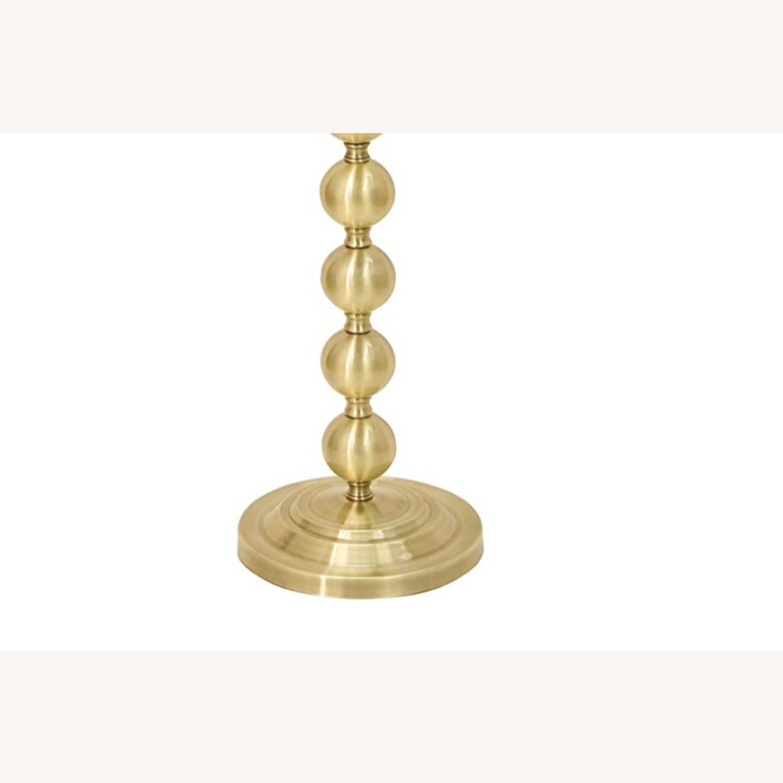 Mid Century Modern Chic Steel Floor Lamp in Brass - image-3