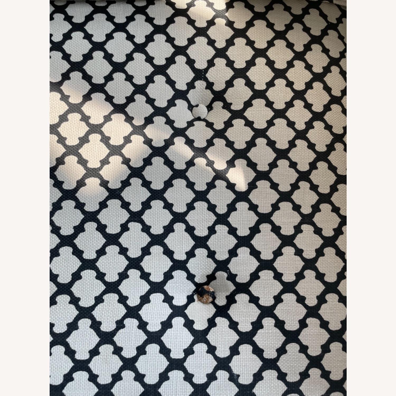 Pottery Barn Upholstered Black/White Armchair - image-8