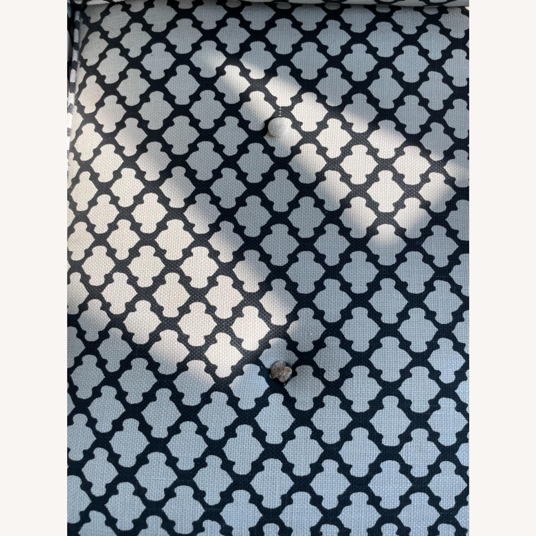 Pottery Barn Upholstered Black/White Armchair - image-7