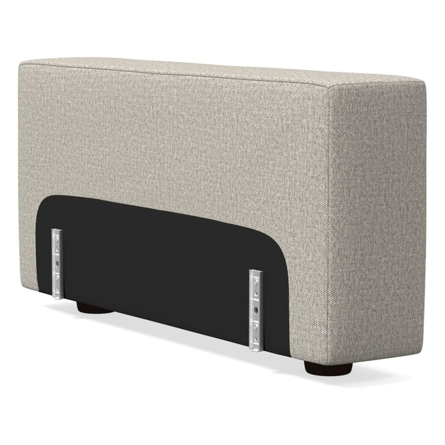 """West Elm Enzo Sectional 8"""" Arm, Pewter - image-2"""