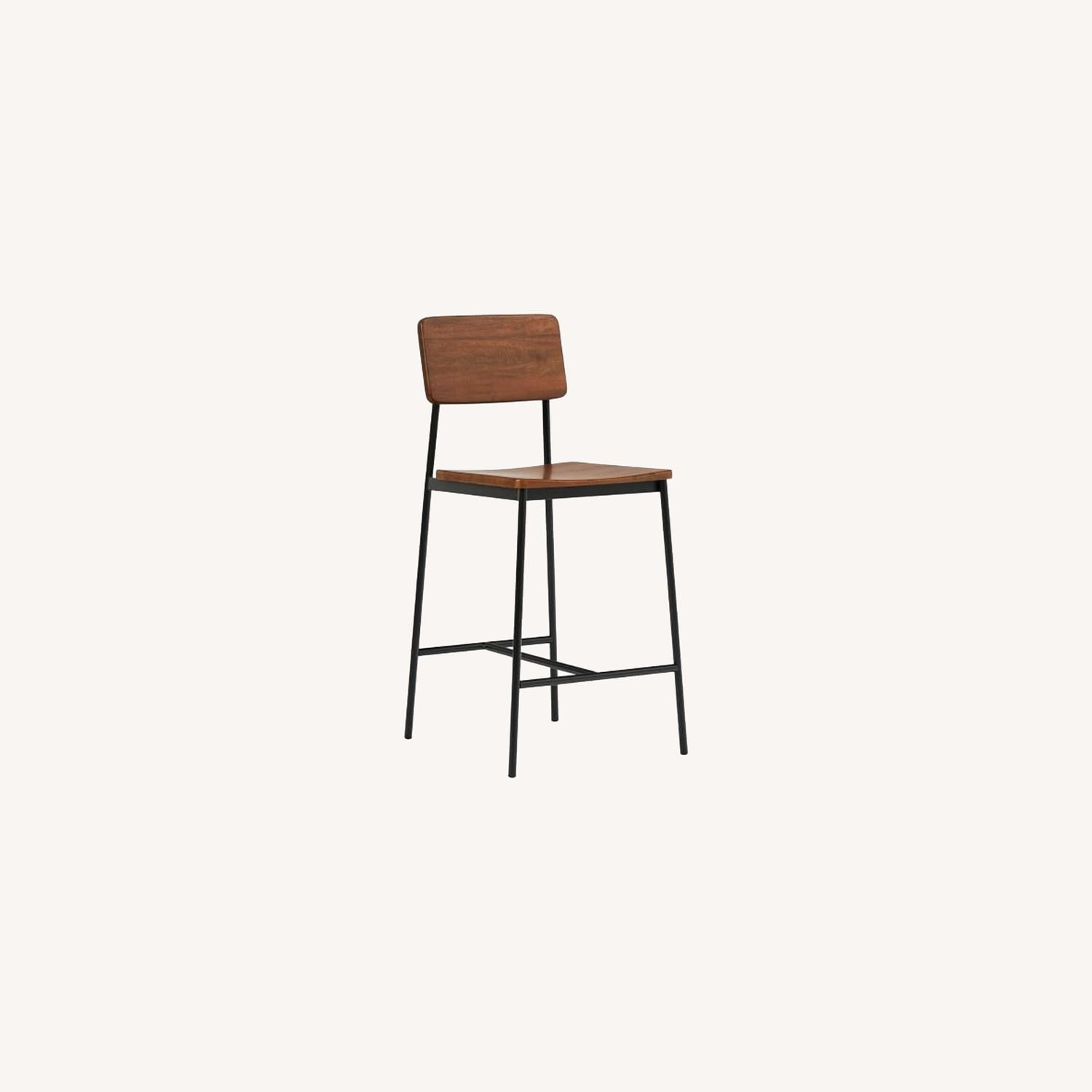 West Elm Augusta Rustic Counter Stool - image-0