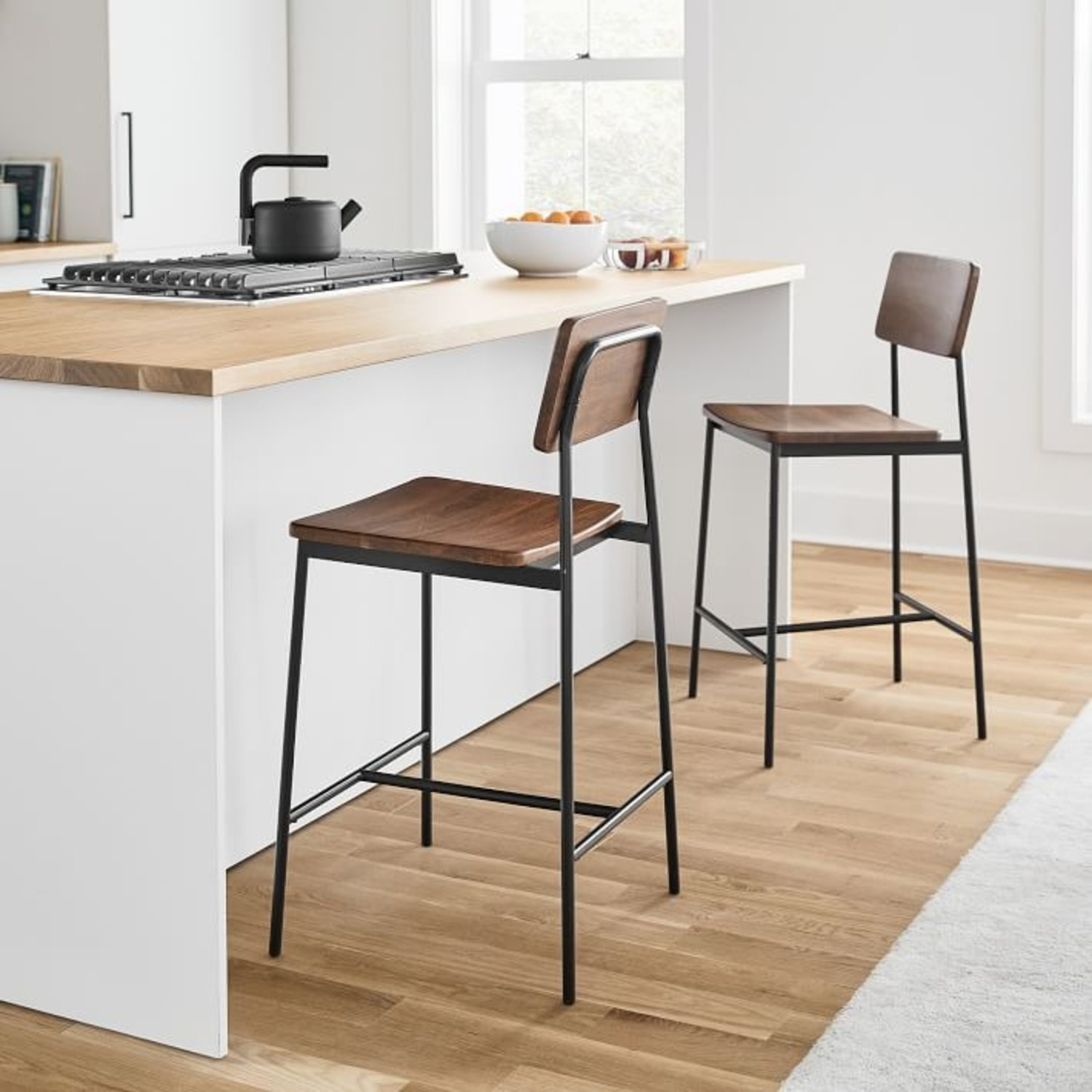 West Elm Augusta Rustic Counter Stool - image-1