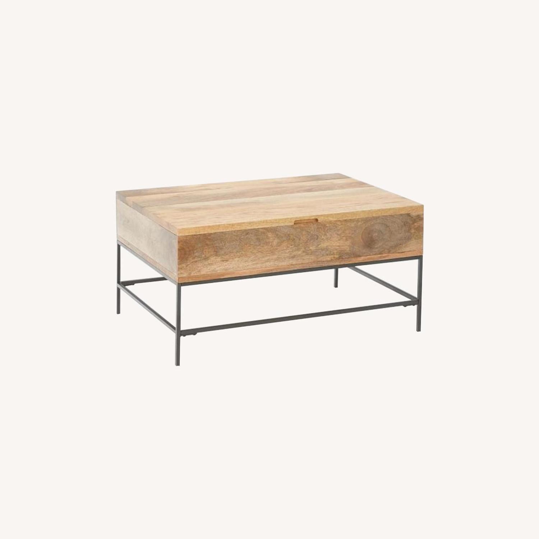 "West Elm Industrial Storage Coffee Table, 36""x26"" - image-0"