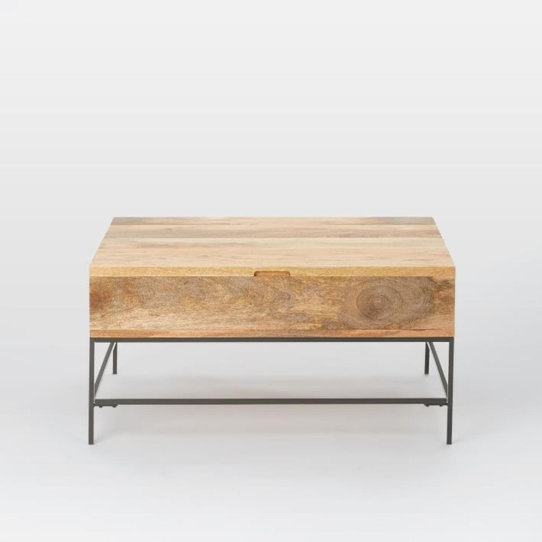 "West Elm Industrial Storage Coffee Table, 36""x26"" - image-3"