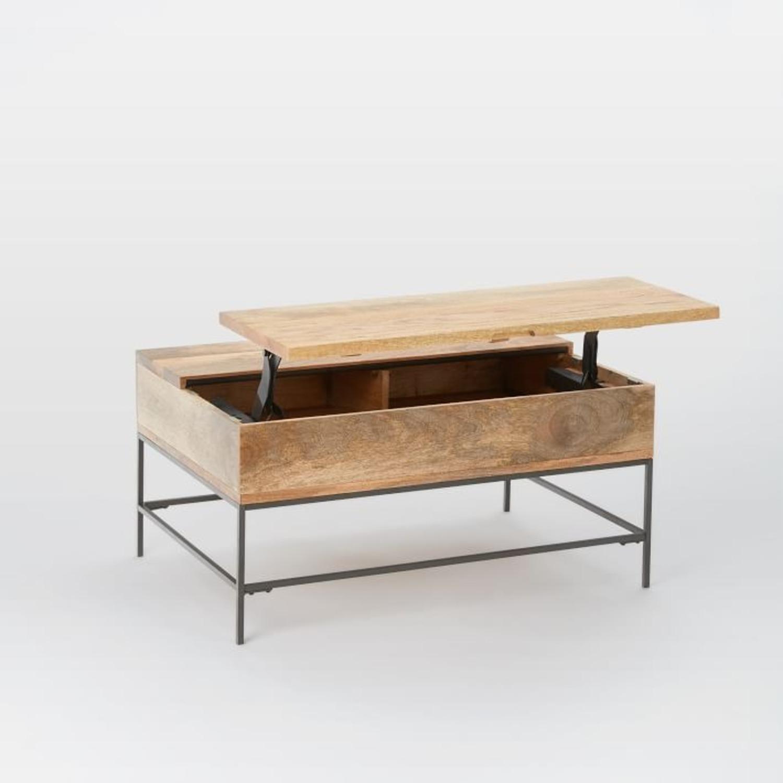 "West Elm Industrial Storage Coffee Table, 36""x26"" - image-2"