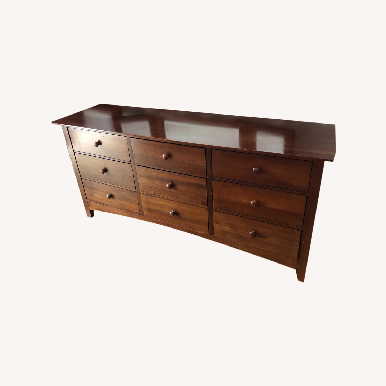 Kincaid Furniture Cherry Wood Dresser with Mirror - image-0