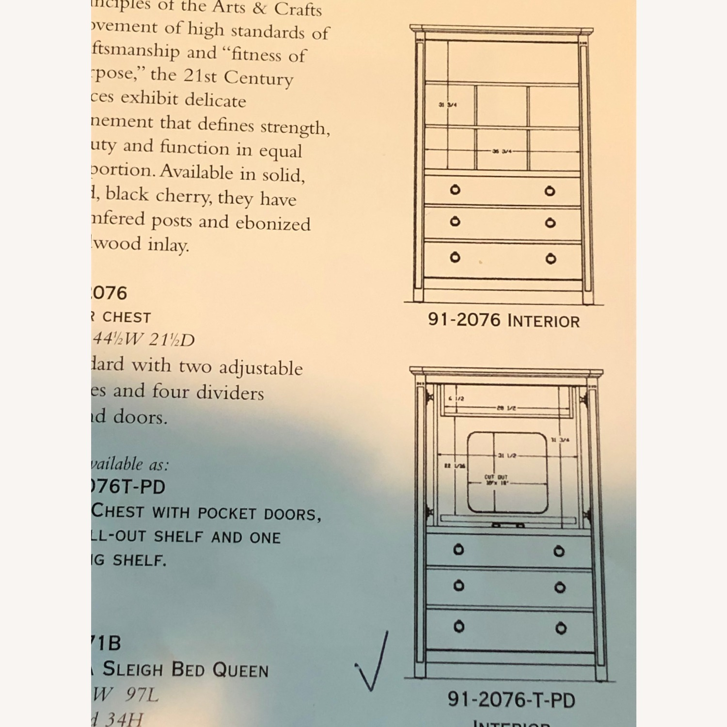 Stickley Armoire with TV and Drawers - image-2