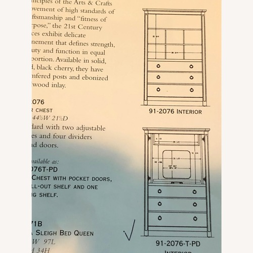 Used Stickley Armoire with TV and Drawers for sale on AptDeco