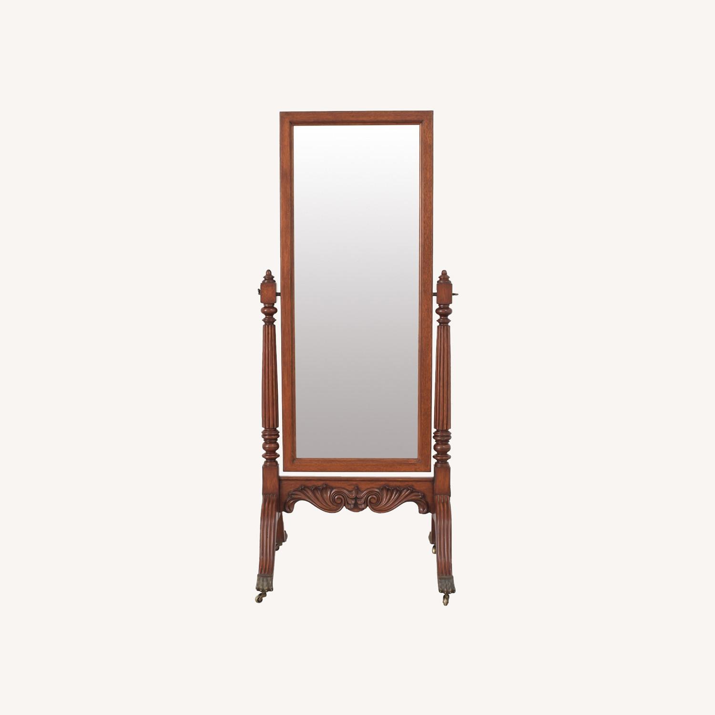 Ethan Allen Vintage Cheval Floor Mirror - image-0