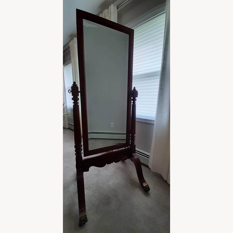 Ethan Allen Vintage Cheval Floor Mirror - image-1