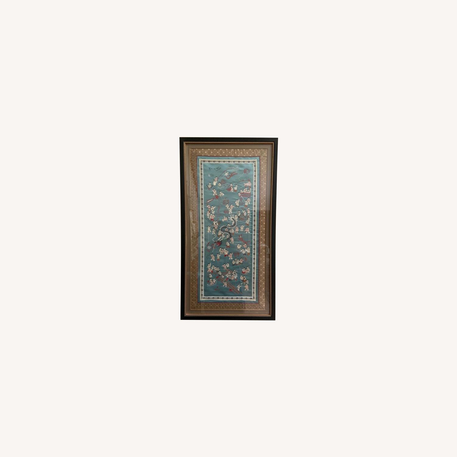 Oriental Woven Tapestry with Custom Frame - image-0