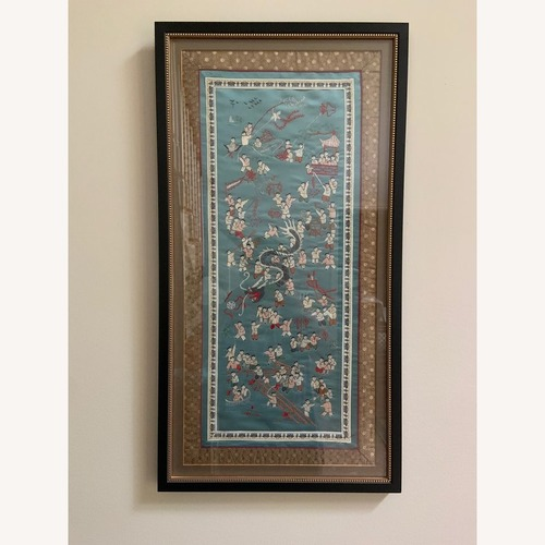 Used Oriental Woven Tapestry with Custom Frame for sale on AptDeco