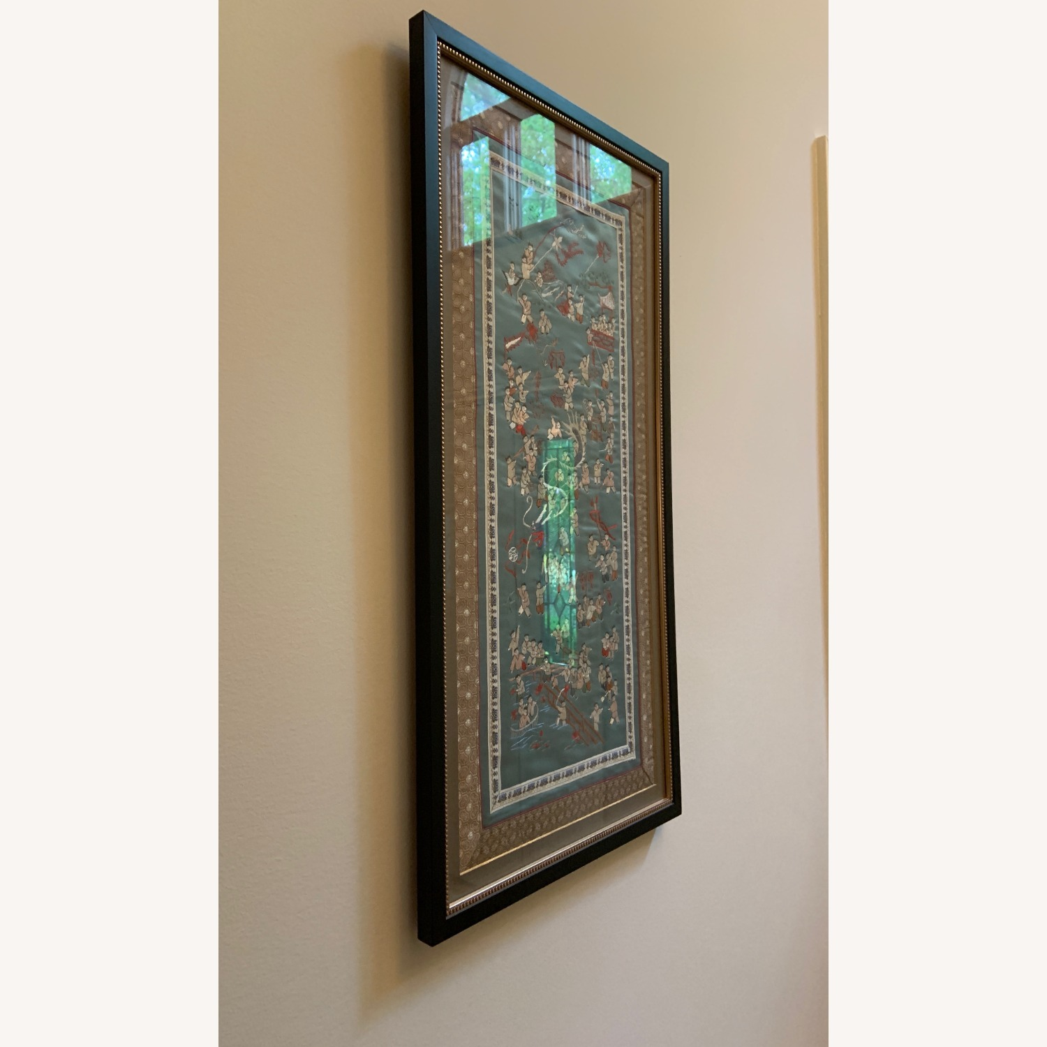 Oriental Woven Tapestry with Custom Frame - image-2