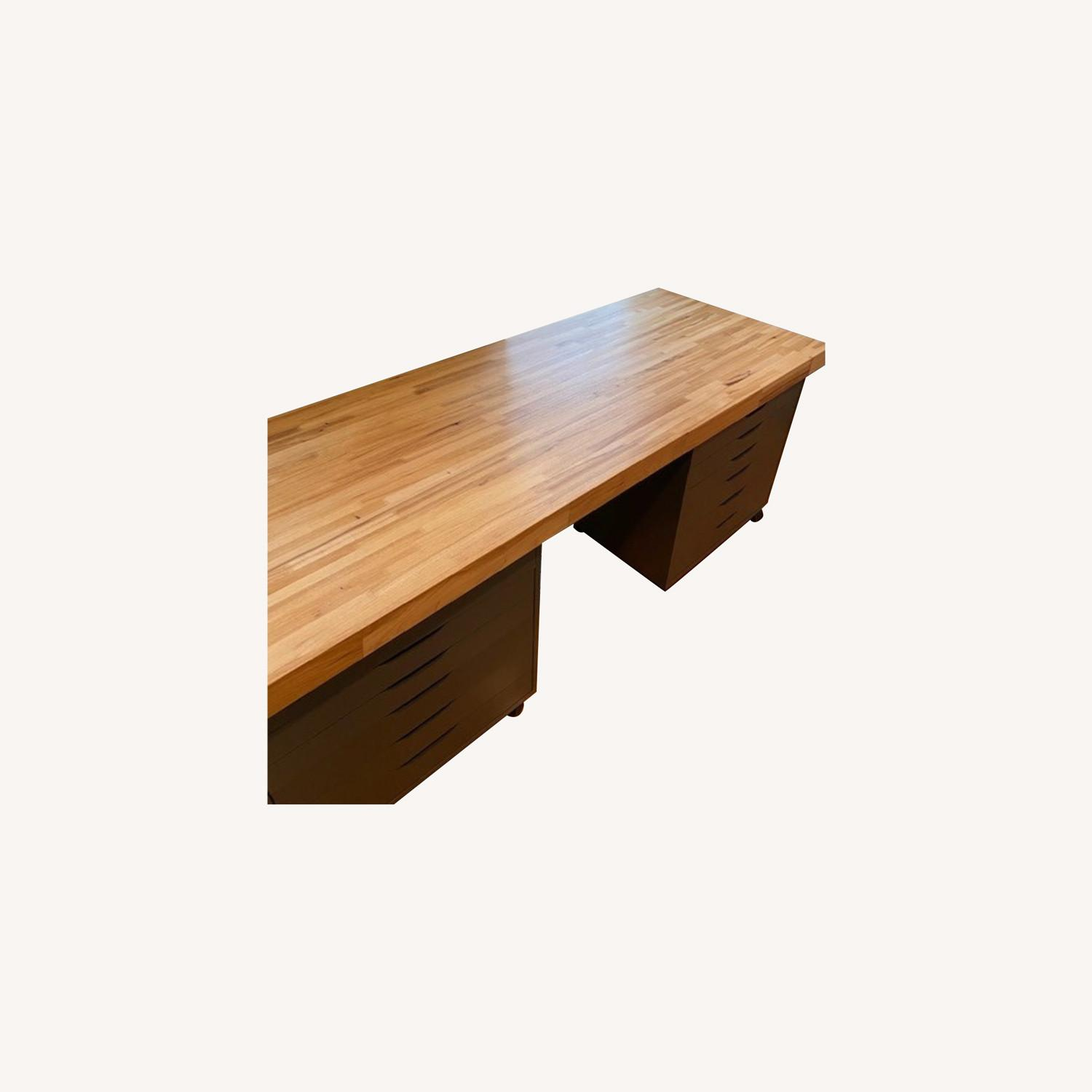 Butcher Block Countertop and Two Drawer Units - image-0