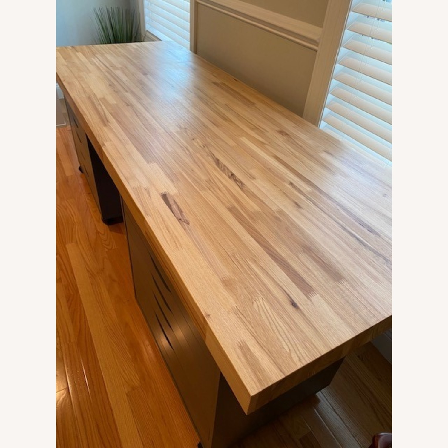 Butcher Block Countertop and Two Drawer Units - image-1