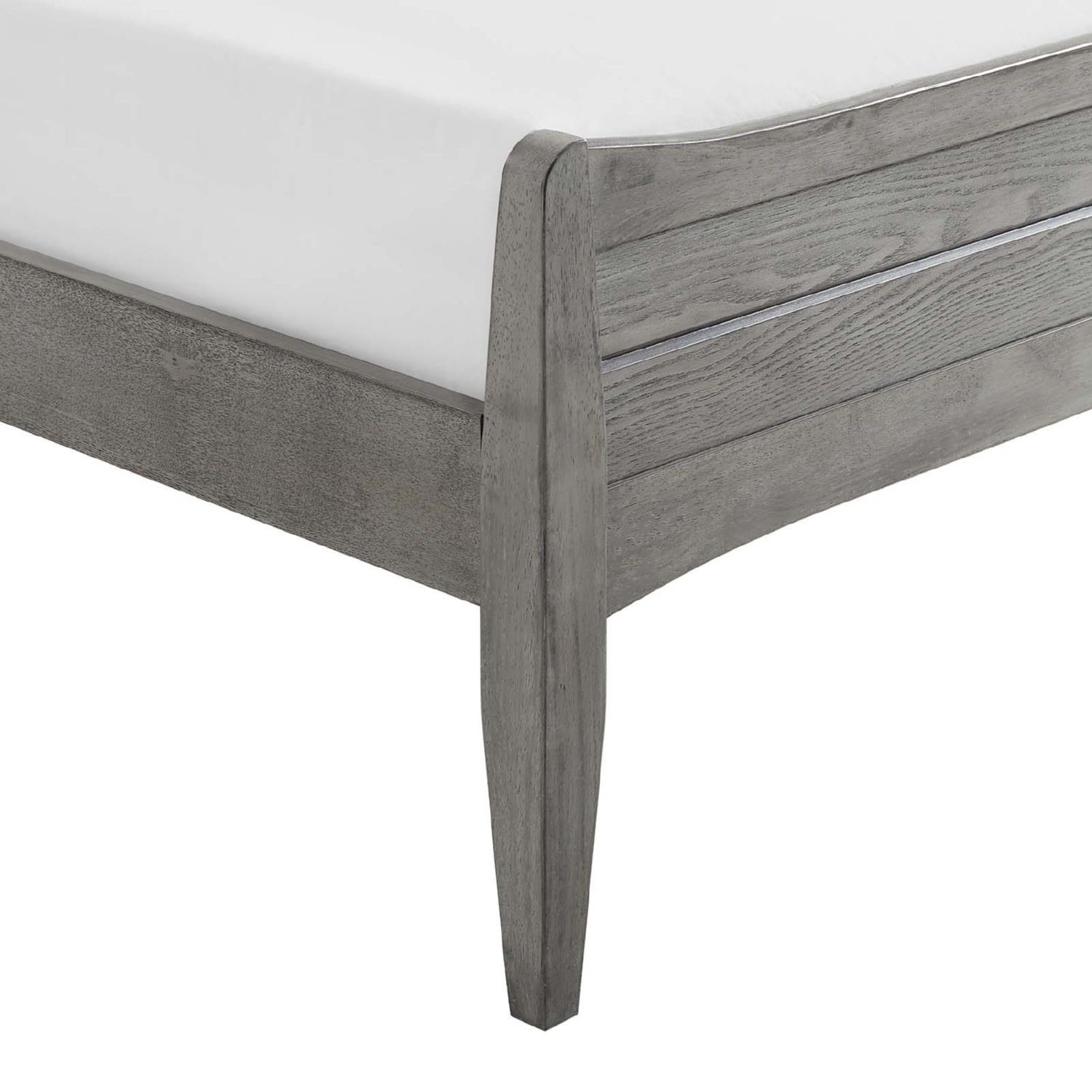 Rustic Queen Platform Bed In Gray Wood Finish - image-4