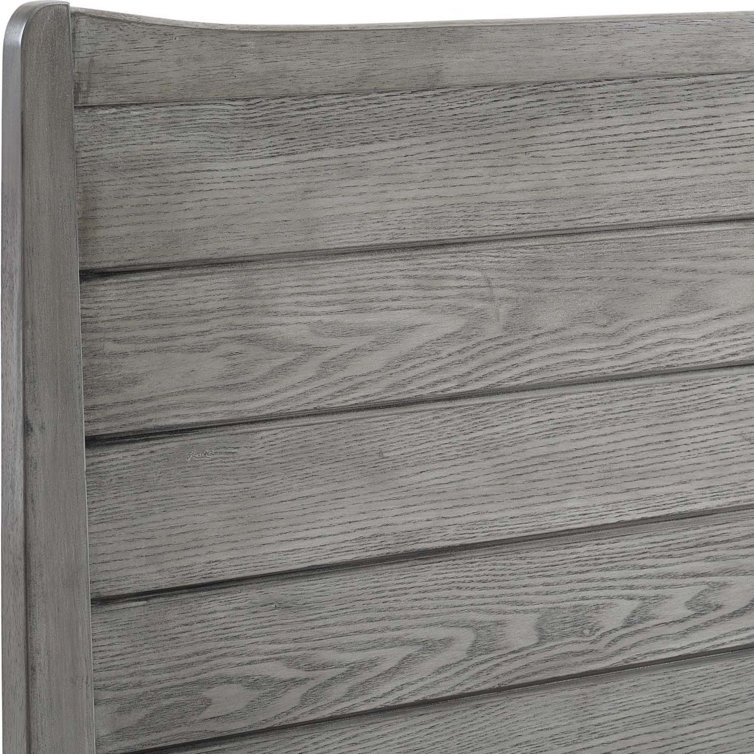 Rustic Queen Platform Bed In Gray Wood Finish - image-5