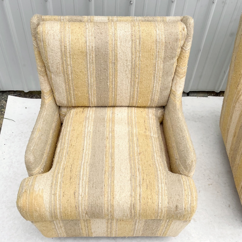 Pair Mid-Century Swivel Lounge Chairs - image-16