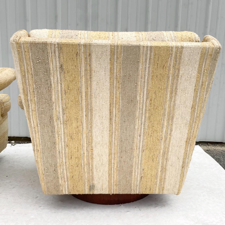 Pair Mid-Century Swivel Lounge Chairs - image-4