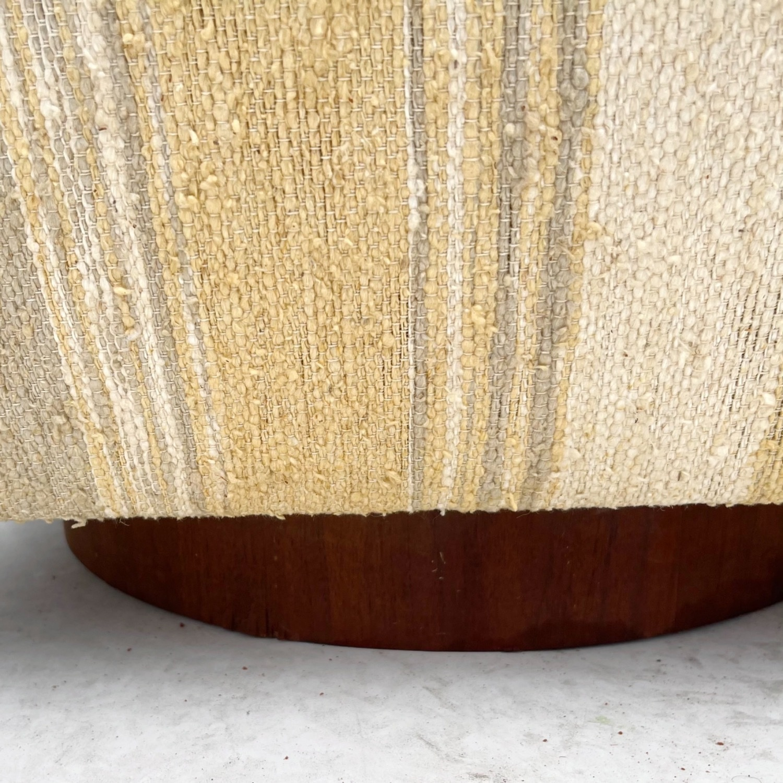 Pair Mid-Century Swivel Lounge Chairs - image-9