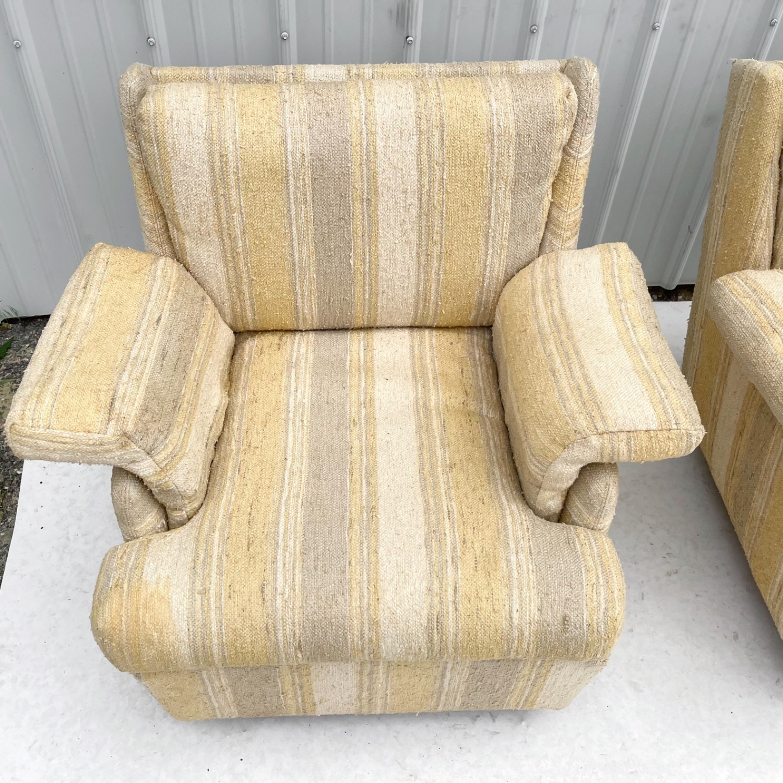Pair Mid-Century Swivel Lounge Chairs - image-12