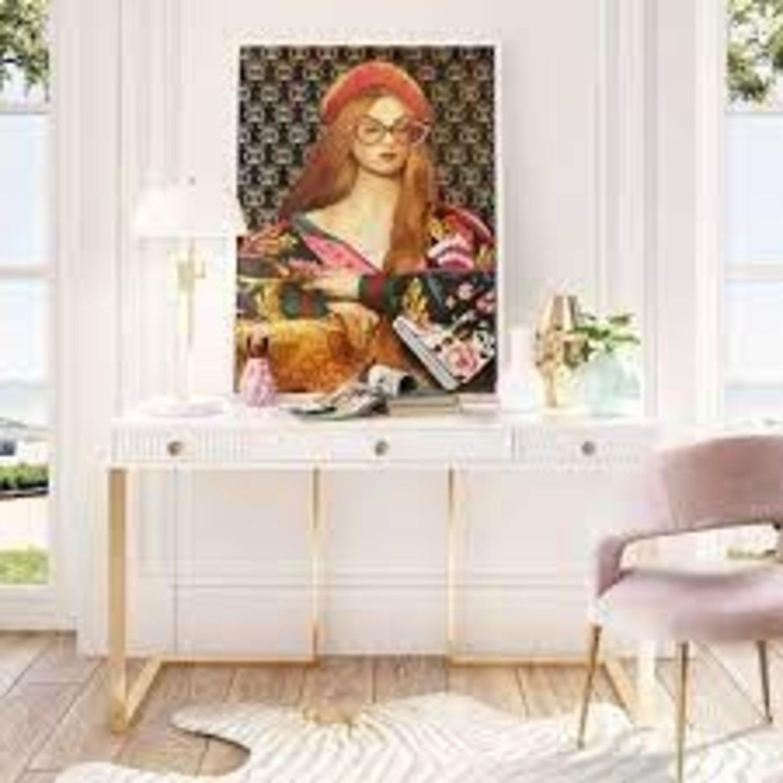 TOV Furniture Janie Lacquer Desk - image-1
