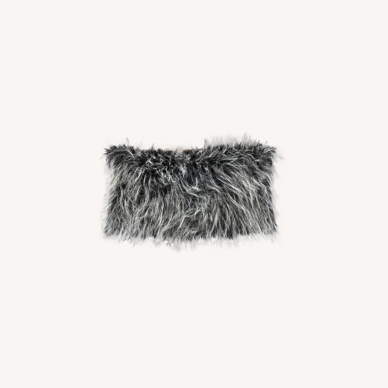 Ethan Allen Faux Fur Pillow - image-0