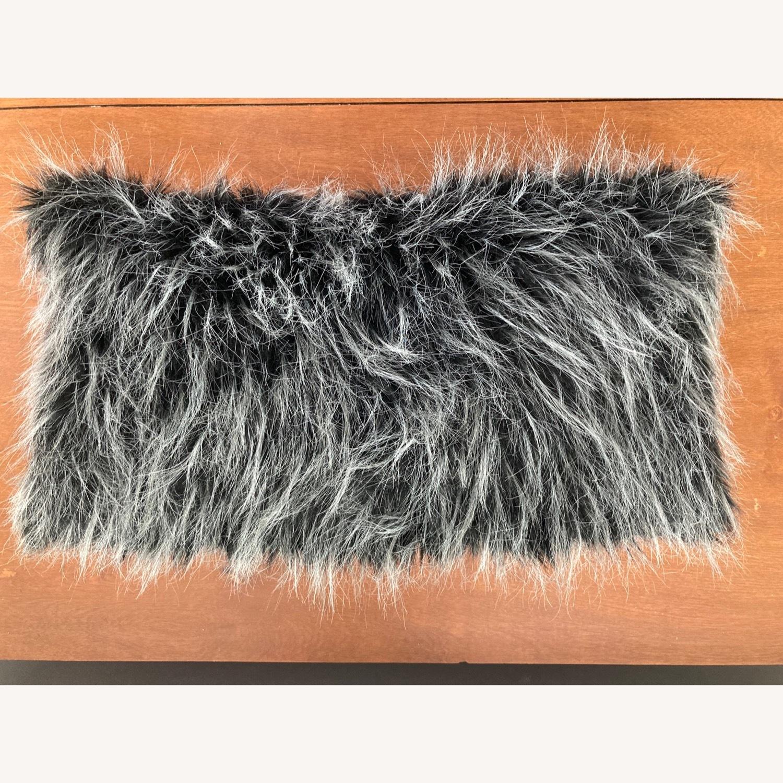 Ethan Allen Faux Fur Pillow - image-1