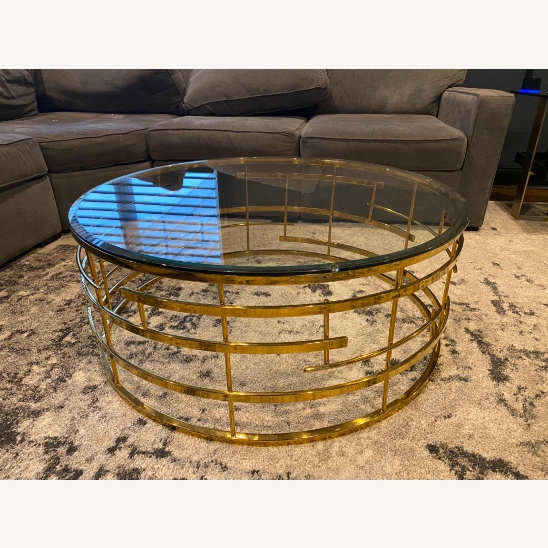 Sunpan Cielo Round Glass Coffee Table - image-2