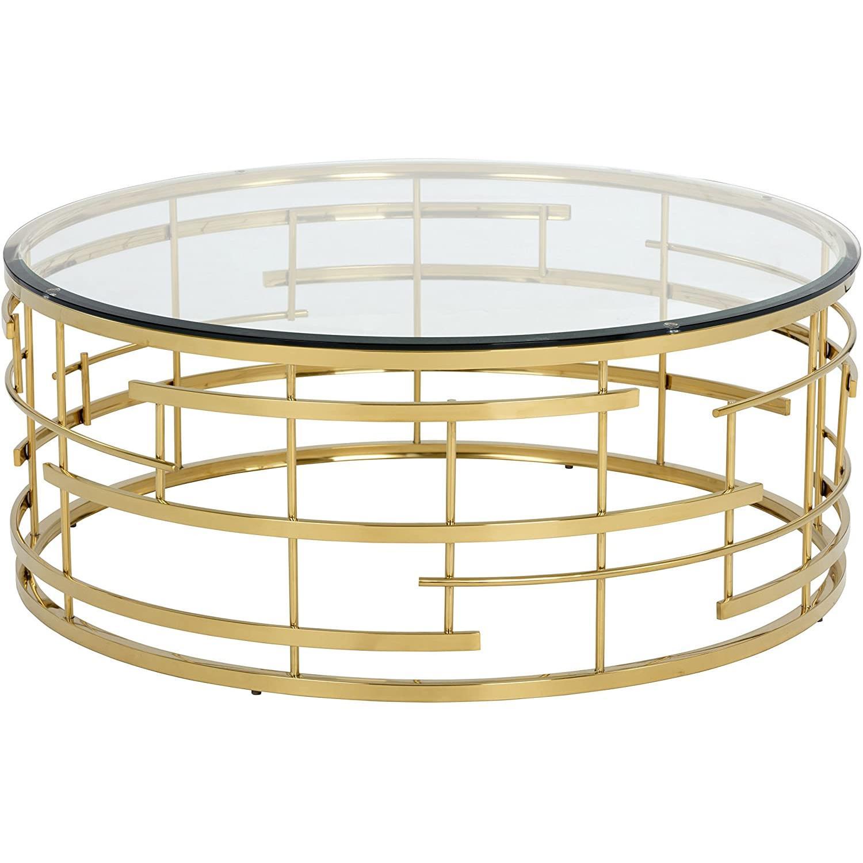Sunpan Cielo Round Glass Coffee Table - image-4