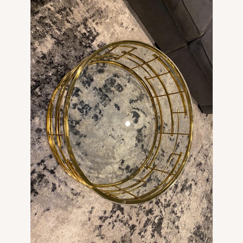 Sunpan Cielo Round Glass Coffee Table - image-3