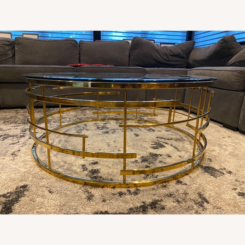Sunpan Cielo Round Glass Coffee Table - image-1