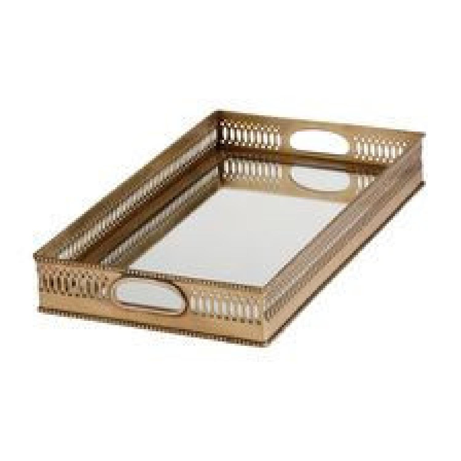Ethan Allen Traditional Brass Tray - image-0