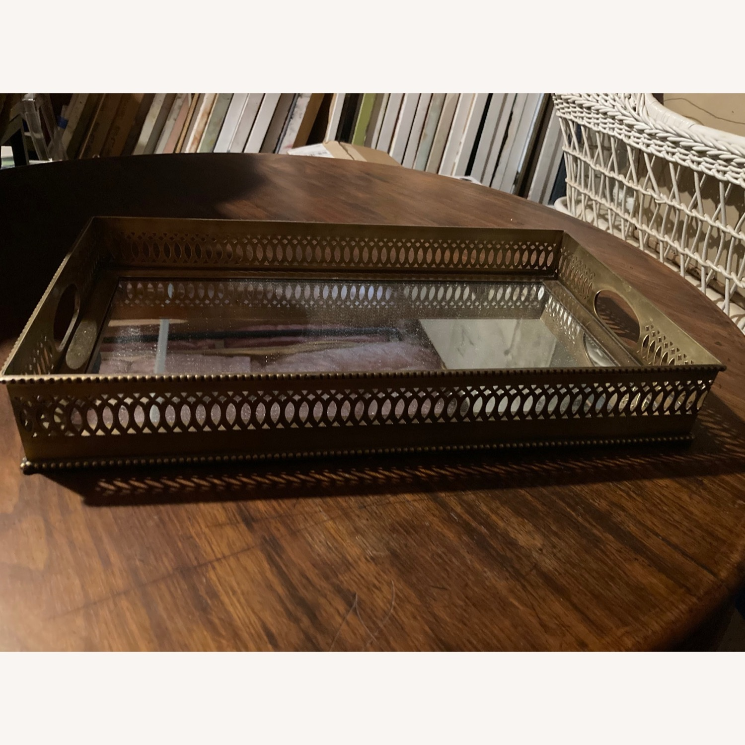 Ethan Allen Traditional Brass Tray - image-1