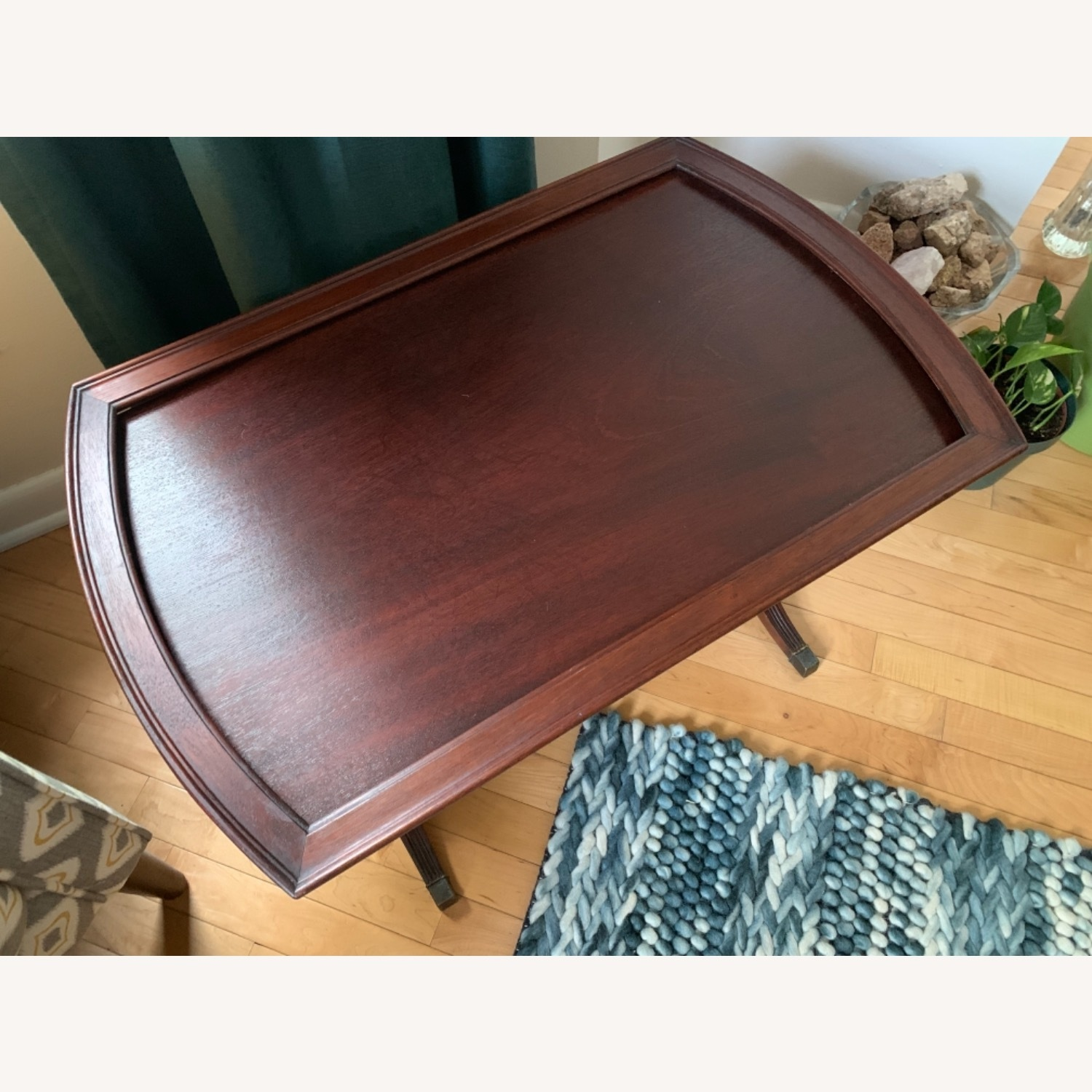 Antique Mahogany Side Table - image-7