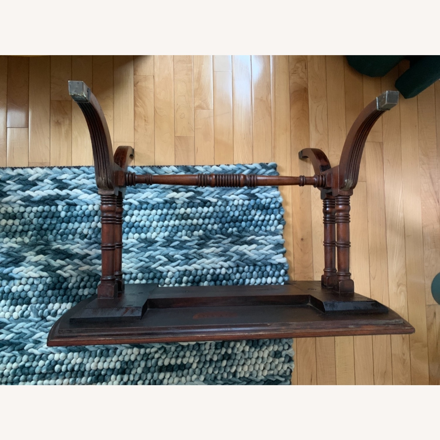 Antique Mahogany Side Table - image-5