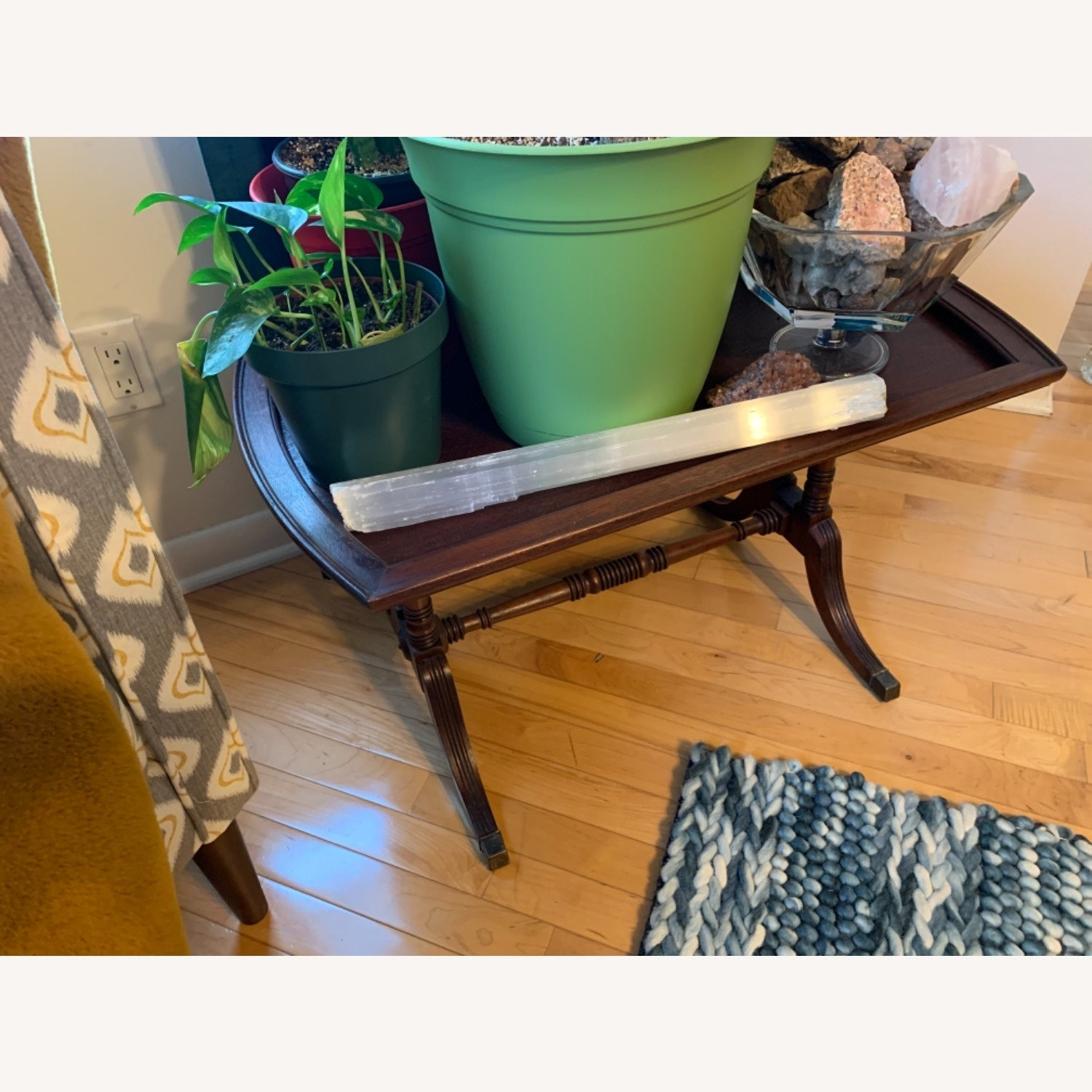 Antique Mahogany Side Table - image-6