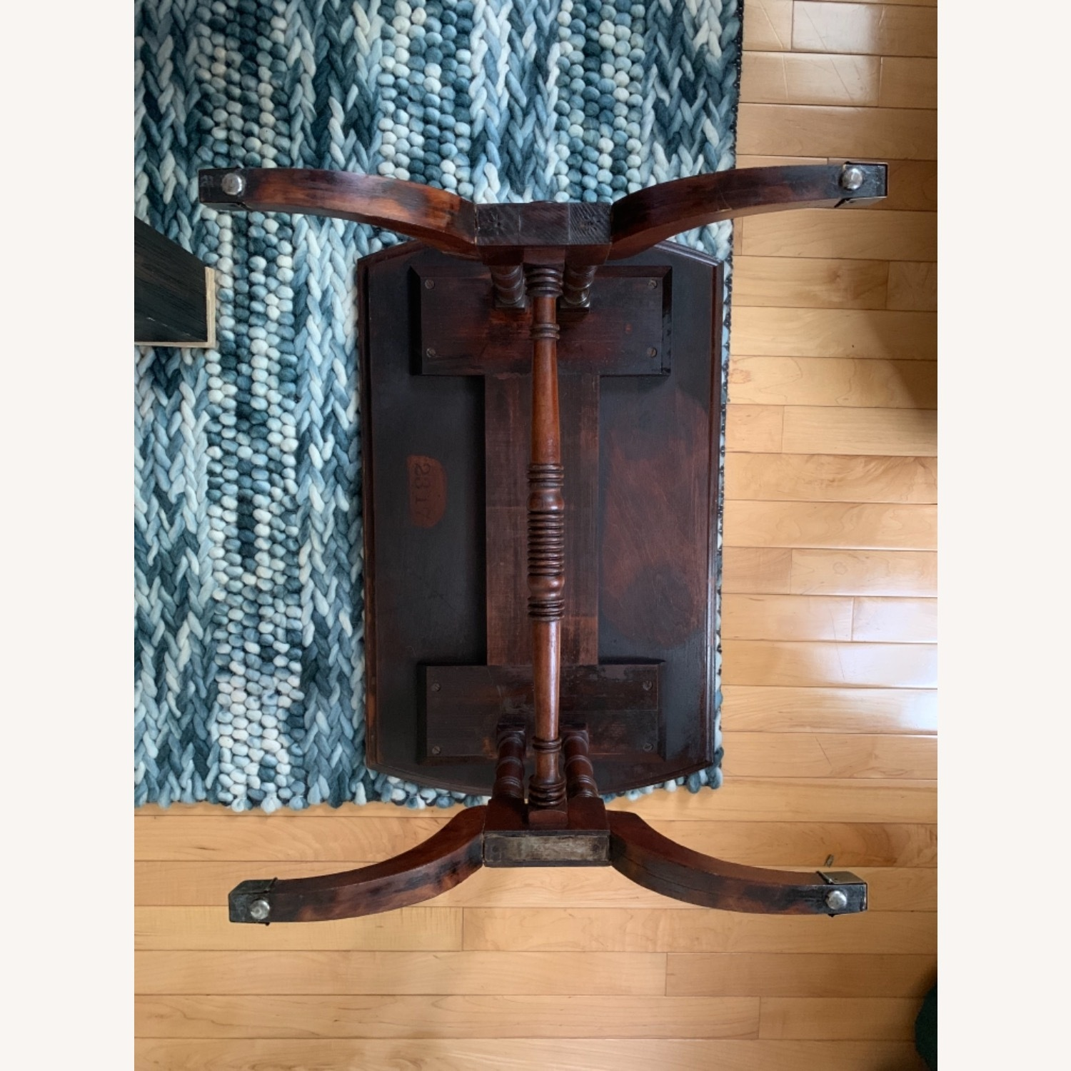 Antique Mahogany Side Table - image-4