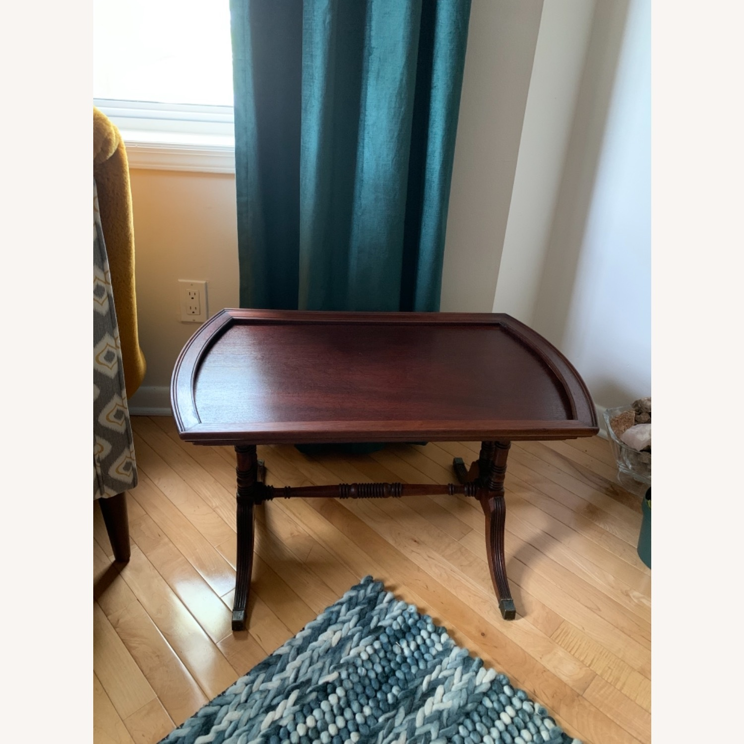 Antique Mahogany Side Table - image-1