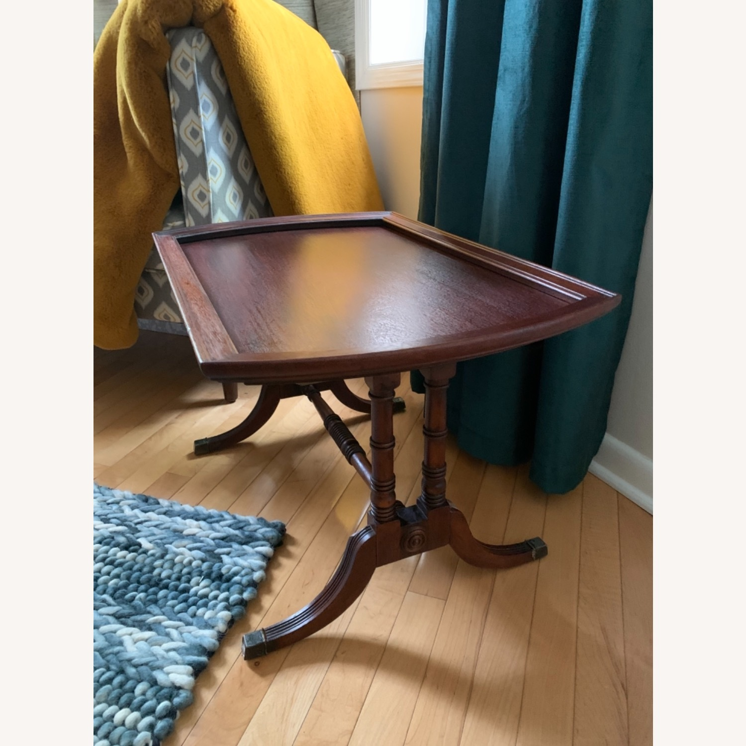 Antique Mahogany Side Table - image-2
